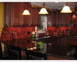 kitchen red backsplash kitchen