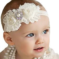 headbands with bows miugle baby girl shabby chic headbands with bows clothing