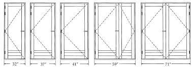 Closet Door Opening Size by Door Size U0026 Door Measurement Chart
