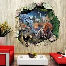 jurassic world dinosaur cracked wall vinyl decals sticker jurassic world dinosaur cracked wall vinyl decals sticker kids room decor ebay