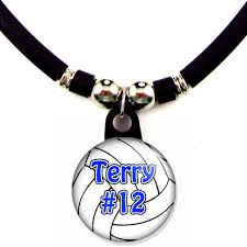 Necklace With Name Volleyball Necklace With Name And Number