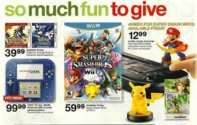 wii u target black friday smash tiny cartridge 3ds nintendo switch 3ds ds wii u and ps vita