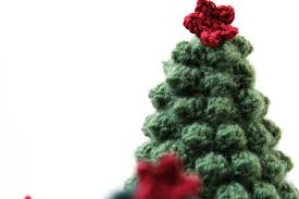crocheted christmas tree christmas lights decoration