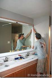 Framing Bathroom Mirror by How To Frame A Bathroom Mirror With No Miter Cuts Another
