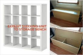 Ikea Chair Weight Limit Bench Ikea Bookcase Bench Recycled Old Expedit Shelf Into A