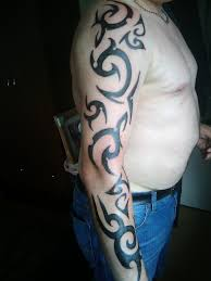 tribal tattoo on arm sleve design for men tattoomagz
