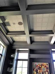 coffered ceiling paint ideas phillip jeffries rivets installed on a coffered ceiling paradise
