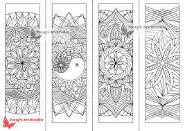 4 printable mandala coloring bookmarks 1 tong u0027s art studio