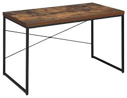acme bob desk weathered oak industrial desks and hutches by