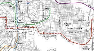 baltimore light rail map baltimore red line light rail map downtown segment proposed