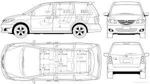 the blueprints com blueprints u003e cars u003e mazda u003e mazda mpv 2006