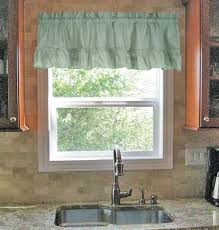 Ruffled Kitchen Curtains by Stacey Solid Color Ruffled Swags Kitchen Curtains Pair Window