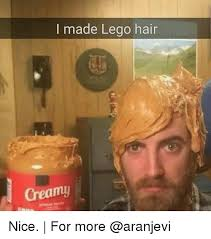 Nice Hair Meme - i made lego hair creamy nice for more meme on me me