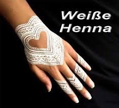 henna tattoo paste weiß kegel in tube 25g aus indien
