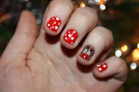 nail art easy christmas beautify themselves with sweet nails
