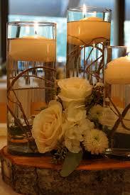 candle arrangements reception flowers low arrangements rf1189 rustic floating