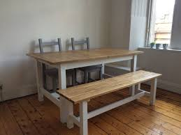 Extendable Dining Table With Bench Birch Dining Table Alf Eva Extension Dining Table Birch Dining