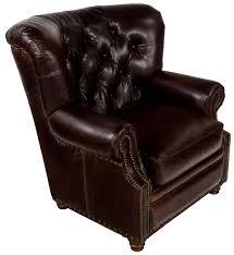 Leather Tufted Chair Traditional Leather Tufted Nailhead Armchair Safavieh Com