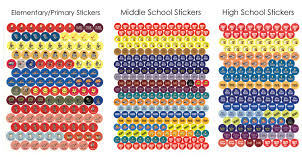 high school agenda reminder planning stickers for school agenda