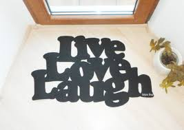 live love laugh floor mat door mat with a personalized