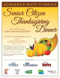 senior citizen thanksgiving dinner 19th ward