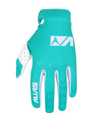 100 motocross gloves lite glove seafoam