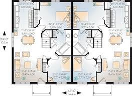 lovely design one level multi family house plans 10 multi family