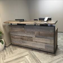 Reception Desk Furniture Buy A Crafted Barn Wood Reception Desk Front Counter