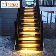 outdoor stairs lighting odyssey led strip light by aurora deck