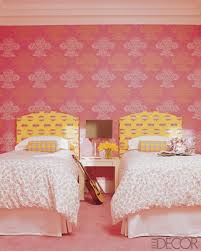 Kids Bedroom Wall Paintings Bedroom Interesting Half Green And Pink Wall Painting For