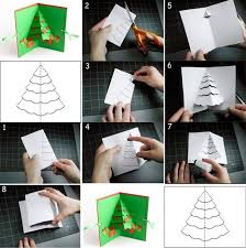 einfache anleitung in bildern für weihnachtskarte mit 3d effekt