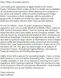 brilliant ideas of how to write a cover letter for an investment