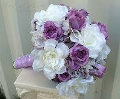 Lavender Roses White Gardenia Lavender Rose Wedding Bouquet Bride In Bloom