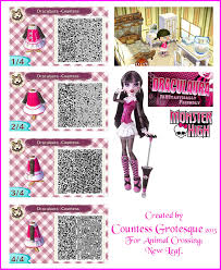 draculaura for animal crossing by countess grotesque on