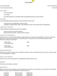 babysitting resume template babysitting resume templates description resume