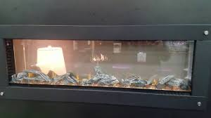 napoleon see through electric fireplace youtube