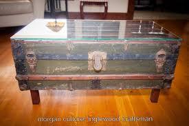 steamer trunk side table diy steamer trunk coffee table inglewood craftsman home