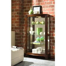 Oak Curio Cabinets Furnitures Curio Cabinets Corner Curio Cabinet Walmart Wall
