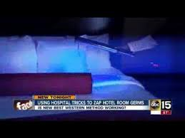 hotel uses uv lights to clean up