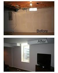 Basement Casement Window by Before And After Photo Of A Transformed Basement With An Egress