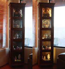rooms to go curio cabinets led ribbon lighting for a curio cabinet