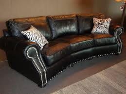 western leather sofa angled sofa with black leather accented with crocodile embossing