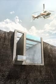 casa brutale house slated be built inside a cliff