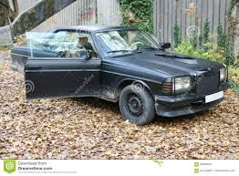 mercedes factory german mercedes benz motor car w123 e class parked on abandoned