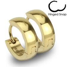 hoop huggie 14k gold plated stainless steel 13mm hoop huggie earrings