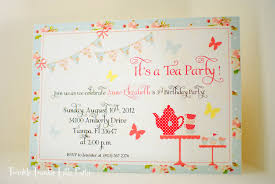 Party Invitation Card Design Shabby Chic Tea Party Invitation Or Birthday Tea Party Invitation