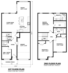 2 story floor plans with garage small 2 storey house plans pinteres