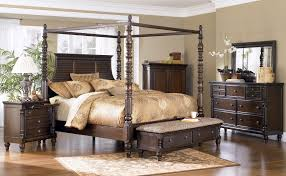 Ashley Furniture Upholstered Bed Ashley Key Town King Poster Bed Clearance Outlet Raleigh