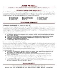 bookkeeper resume exles bookkeeper resume exle http resumesdesign bookkeeper