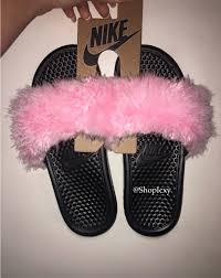 pink slides pin by nedra on shoes pink slides fur and princess